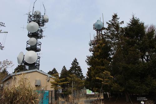 比叡山の山頂の無線中継所